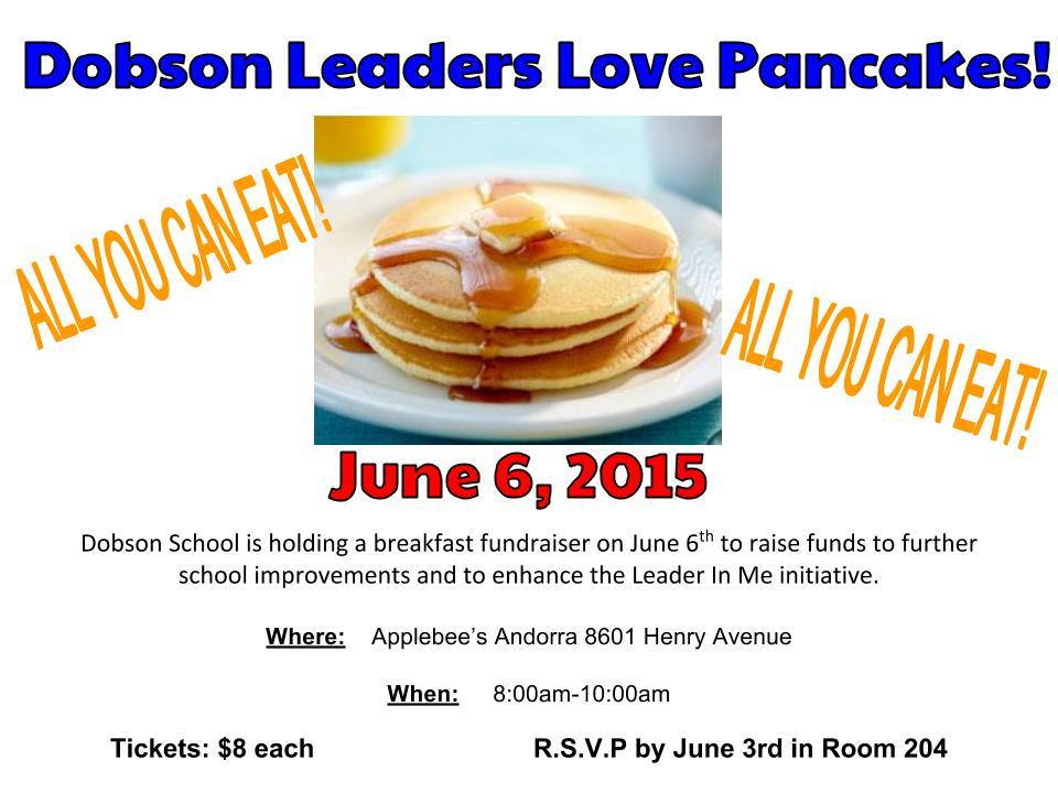 pancake fundraiser flyer