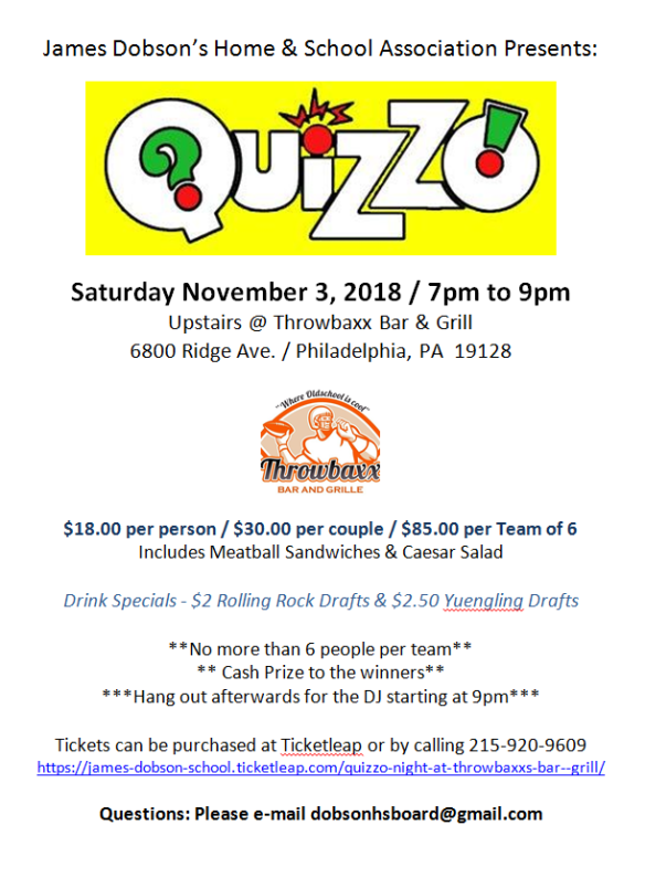 Quizzo Flyer